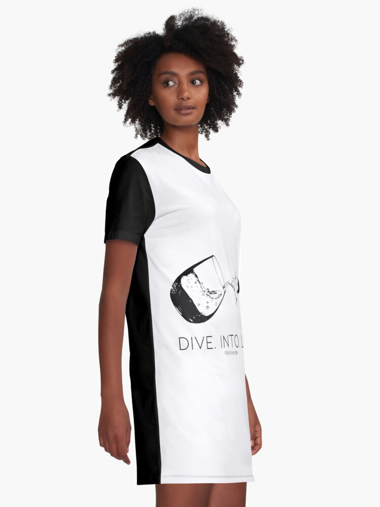 Alternate view of DIVE. INTO. LIFE. (B) Graphic T-Shirt Dress