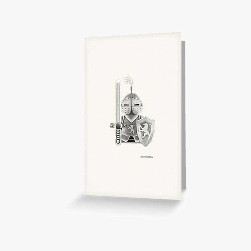 Medieval Warrior Greeting Card