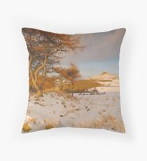 Roseberry Topping from Cliff Ridge, Great Ayton, North Yorkshire Moors Throw Pillow