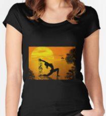 HARPIST Women's Fitted Scoop T-Shirt