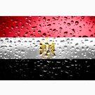 «Bandera de Egipto - Gotas de lluvia» de Dr-Pen