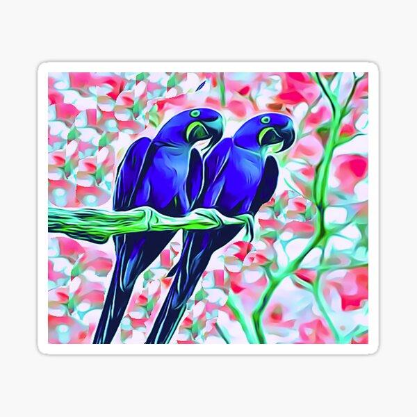 2 Blue Parrots Sticker