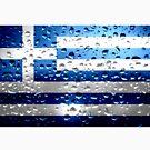 «Bandera de Grecia - Gotas de lluvia» de Dr-Pen