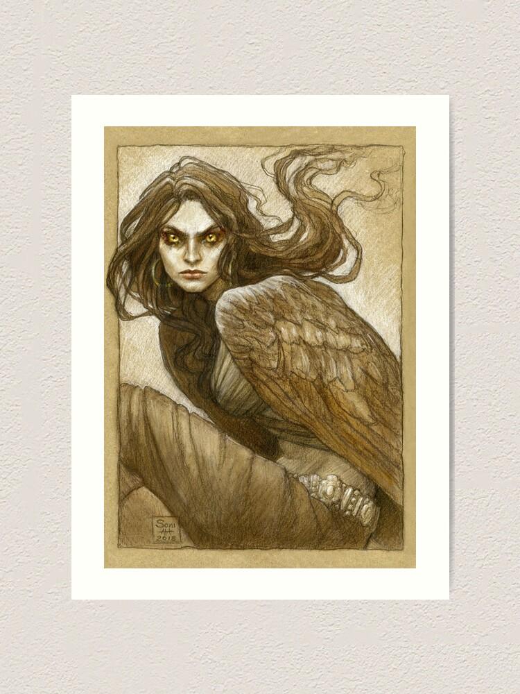 Alternate view of The harpy, Marta Art Print