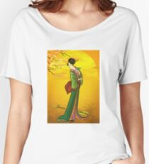 Beautiful Japanese girl Women's Relaxed Fit T-Shirt