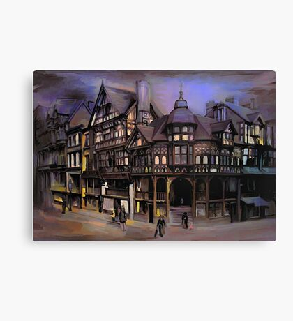 The cross and Rrows,Chester England Canvas Print