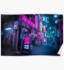 Small streets of Shinjuku Poster