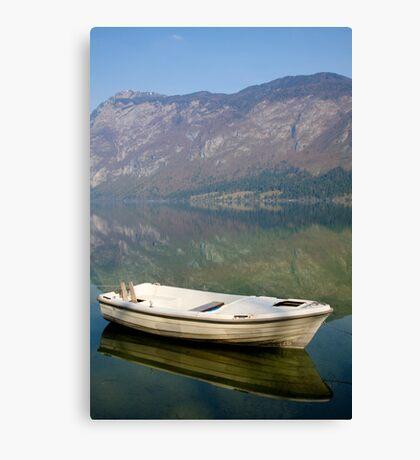 Tranquil alpine lake Canvas Print