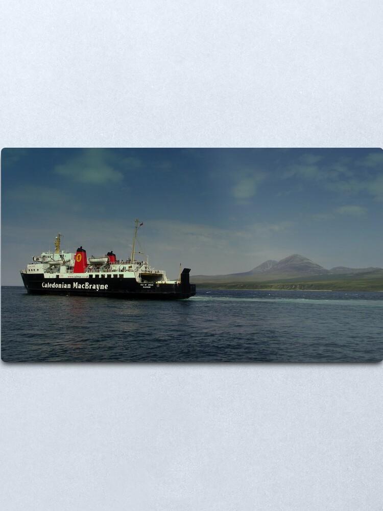 Alternate view of MV Isle  of Arran  Paps  of Jura  Metal Print