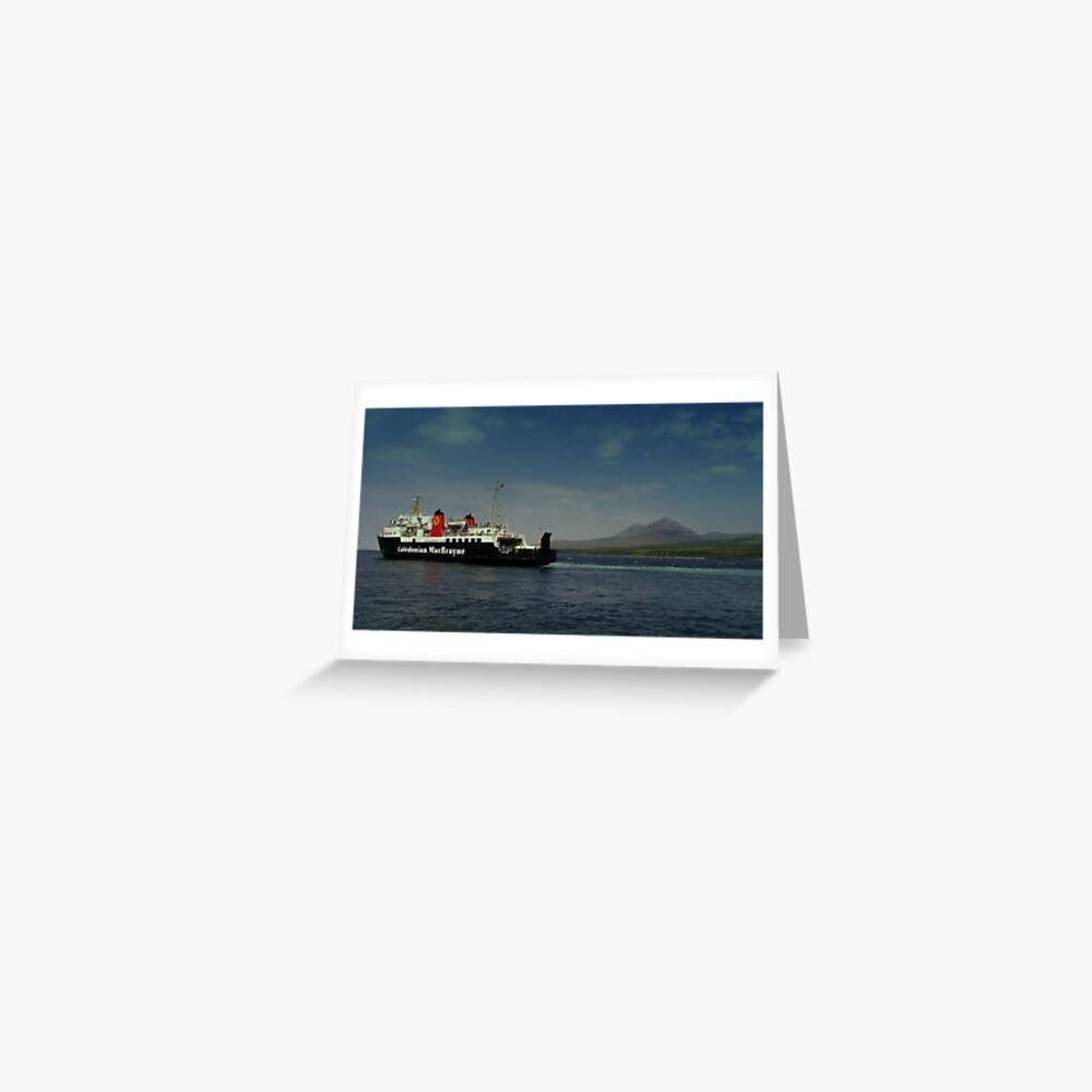 MV Isle  of Arran  Paps  of Jura  Greeting Card