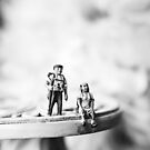 Miniature Adventures in black and white by fruitfulart
