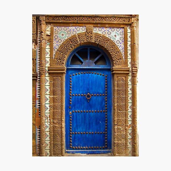 blue oriental door Photographic Print