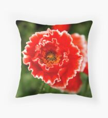 Red Hot Shirley Throw Pillow