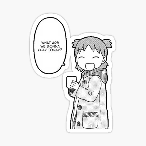 What Are We Gonna Play Today? | Yotsuba  Sticker