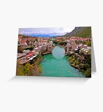 Mostar. View from the top of the Minaret. Greeting Card