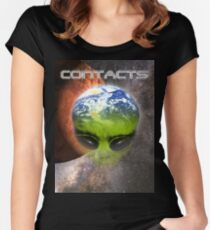contact Women's Fitted Scoop T-Shirt