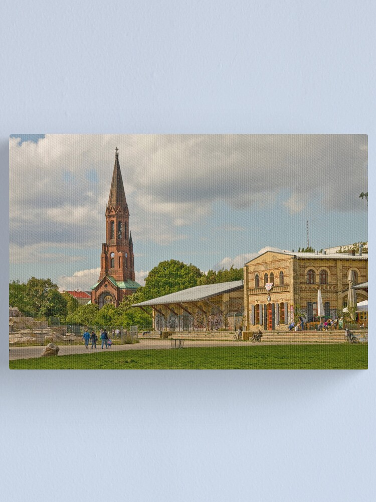 Alternate view of The old train station Canvas Print