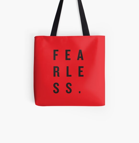 FEAR LESS. All Over Print Tote Bag