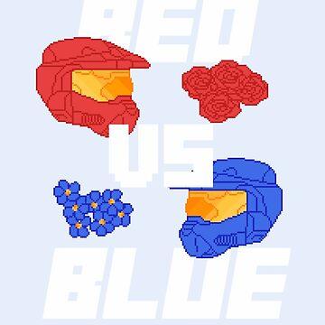 red versus blue by sharkgills