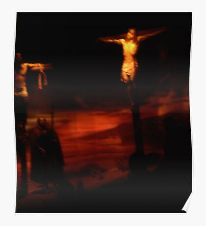 Jesus on the cross Poster