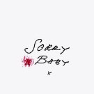 Killing Eve - Villanelle- Sorry Baby- Sorry Baby Quote- white background- blood splatter by Angie Stimson