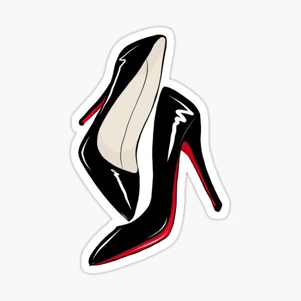 Sext Black Louboutin Chaussures Sticker