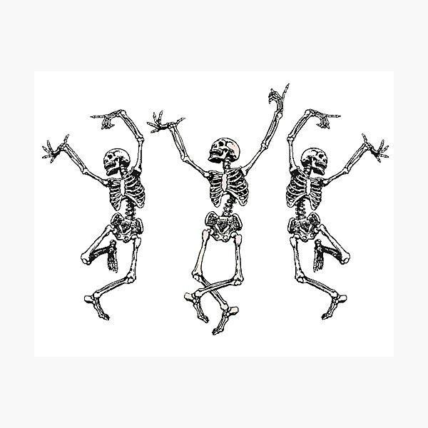 dancing skeletons  Photographic Print