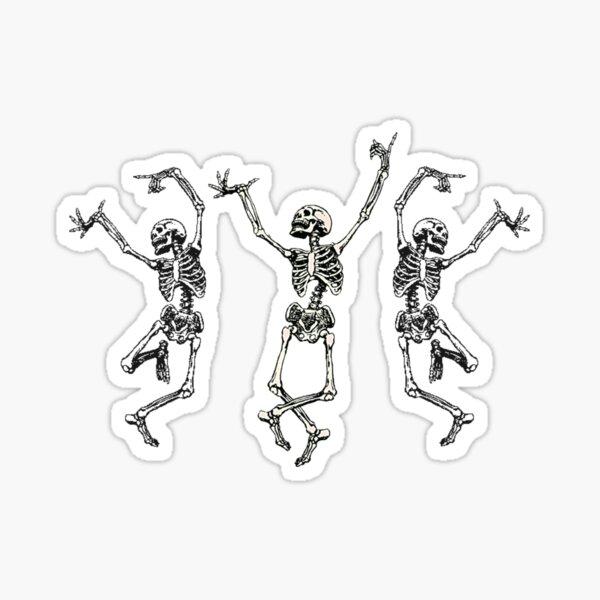 esqueletos bailando Pegatina
