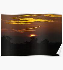 Sunset over Atcham, Shropshire Poster