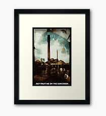 Wear Sunscreen Framed Print