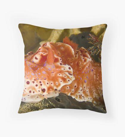 Orange Explosion Throw Pillow