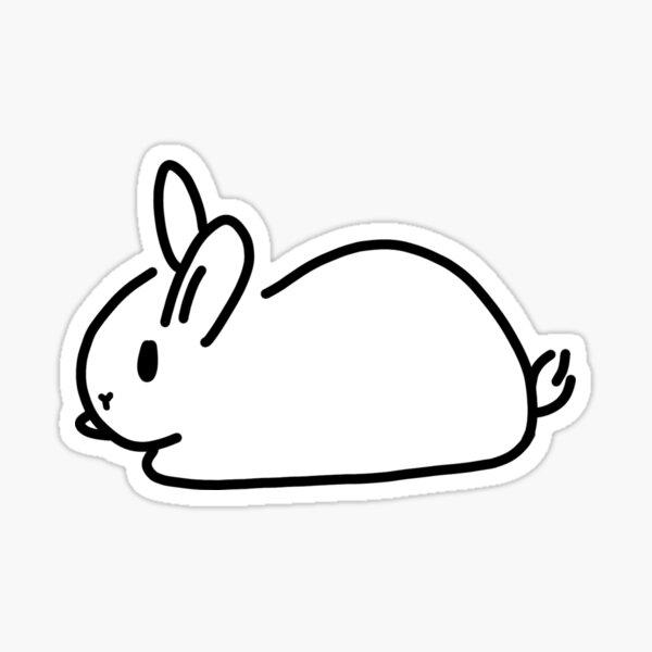 Minimalist White Bunny Rabbit Sticker