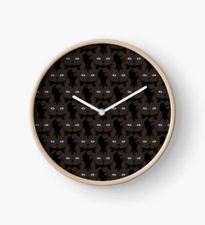 Espresso Brown Tabby Cat Cattern [Cat Pattern] Clock