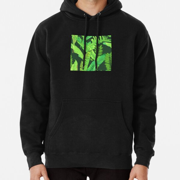 Tropical Toucans Exotic Leaves Toucan Mens 3D Printed Pullover Long Sleeve Hooded Sweatshirts with Pockets