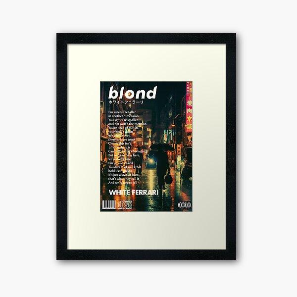 Frank Ocean - Blonde Poster Framed Art Print