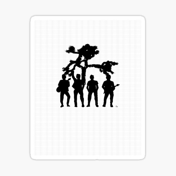 U2 Joshua Tree Group Shot on White Background Sticker//Decal