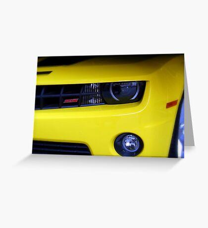 Yellow Camero Greeting Card