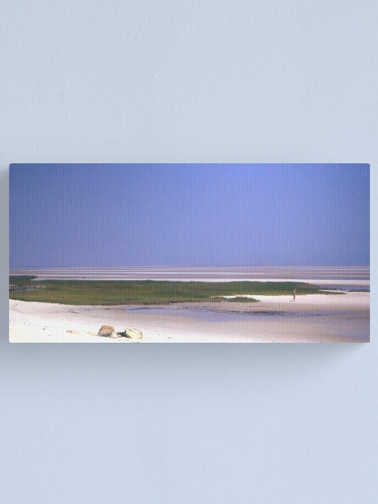 Alternate view of SKAKET BEACH, CAPE COD, MA. 1973  by Peter Stratton Canvas Print