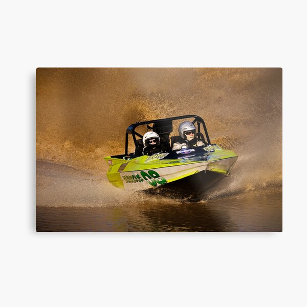 """Hazardous "" - V8 Jetboat Metal Print"