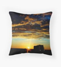 Dawn On An Outback Highway Throw Pillow