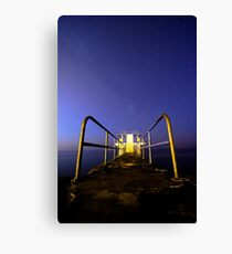 Milky Way Over Blackrock Diving Tower, Salthill, Galway Canvas Print