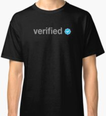 Twitter Verified Person Classic T-Shirt