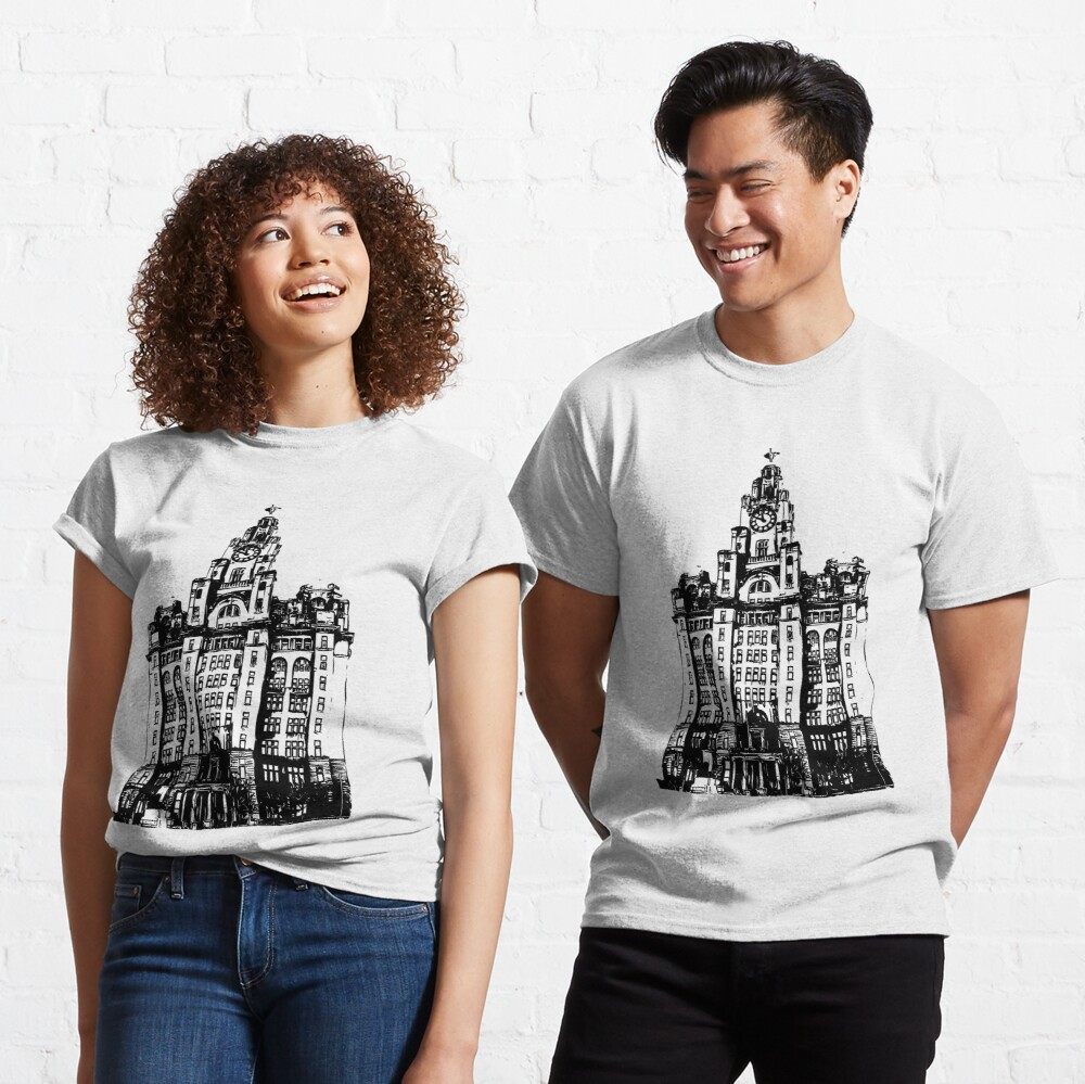 Liverpool Liver Building Vector Classic T-Shirt