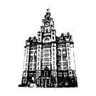 Liverpool Liver Building Vector by tribbledesign
