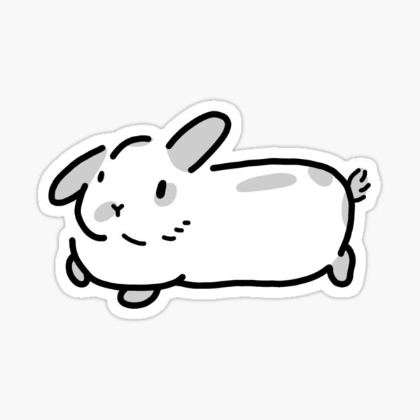Minimalist White Spotted Bunny Rabbit Sticker