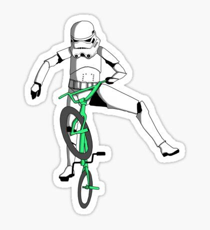 stormtrooper on a bike Sticker