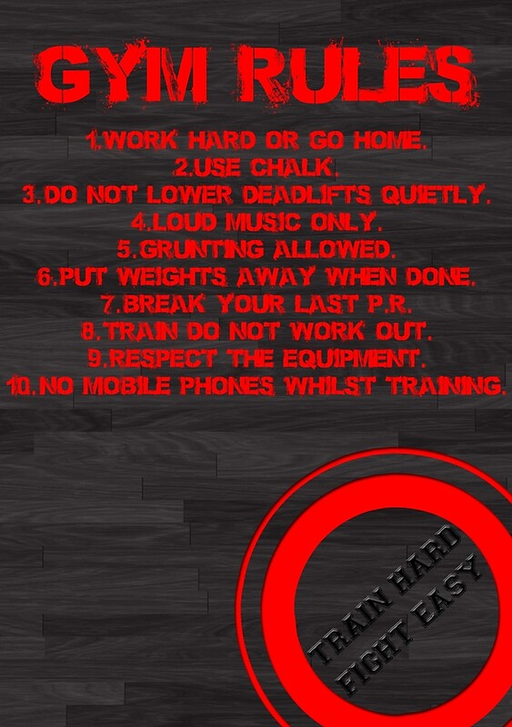 Quot Gym Rules Quot Posters By Starsandguitars Redbubble