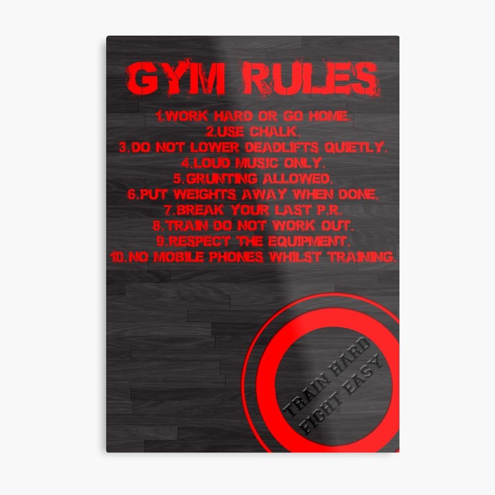 Reglas de gimnasio Lámina metálica