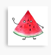 Super friendly watermelon Canvas Print