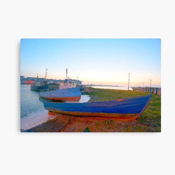 Three Boats Opposite The Old Long Walk, Galway Canvas Print